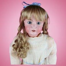 Antique German LG Kestner Doll Bisque Head Marked Org Excelsior Body Lovely 32 inch