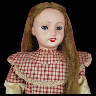 Antique French Doll By Unis France Bisque Head 301 Marked French Comp Body 27 inches