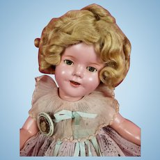 "Vintage 1930s Ideal Shirley Temple Composition Doll Starburst 15"" CLEAR EYES"