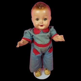 "1939-1942 Vintage FREUNDLICH Baby Sandy New Universal Star Doll Composition 16"""