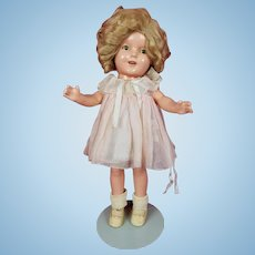 "Vintage Ideal SHIRLEY TEMPLE Doll 13"" Composition All Original Tagged Dress NICE"