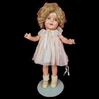 """Vintage Ideal SHIRLEY TEMPLE Doll 13"""" Composition All Original Tagged Dress NICE"""