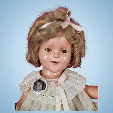 "Vintage Ideal 1930's Shirley Temple 17"" Composition Doll Orig NRA Dress NICE!"
