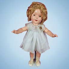 "Vintage Ideal 1930's Shirley Temple 20"" Composition Doll NRA Tag Dress Lovely!"