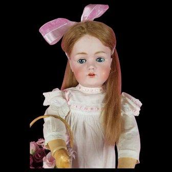 """Antique German LG Kestner JDK 214 Doll Composition Kestner Comp Body 28"""" CUTE!"""