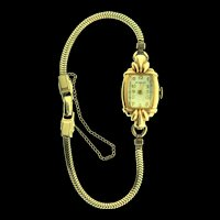 Vintage Art Deco PAUL BREGUETTE 14K Yellow Gold 17 Jewels Swiss Ladies Watch WORKING