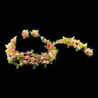 RARE Masterpiece Vintage 1967 CHRISTIAN DIOR Germany Pink Lucite Flower Necklace Bracelet Earrings PARURE Set