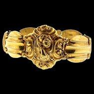 Antique Victorian Gold Filled Repousse Mourning LOCKET BRACELET