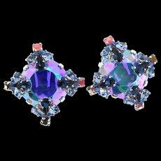 Vintage 1958 CHRISTIAN DIOR Henkel & Grosse AB Swarovski Crystal Rhinestone EARRINGS
