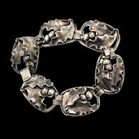Vintage GEORG JENSEN Sterling Silver Oak Leaves & Acorns #125 La Paglia BRACELET