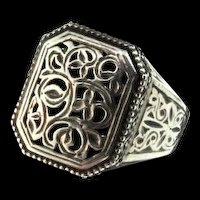 GEOCHRISTO Greece Sterling Silver 925 Medieval Byzantine RING Sz 9.5