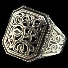 GEOCHRISTO Greece Sterling Silver 925 Medieval Byzantine RING Sz 9.5