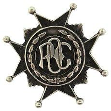 "Vintage PRUDENTIAL OLD GUARD Insurance ""POG"" Sterling Badge Pin"