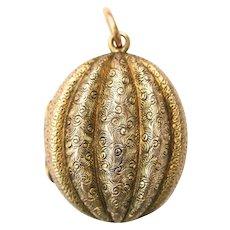 Victorian Double Sided 15 Carat Gold Perfume Locket Circa 1860