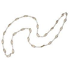 Antique Art Nouveau 18K Gold Fancy Chain Necklace ca 1900
