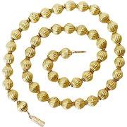 SPECIAL Antique Victorian 18 Carat Gold Bead Necklace