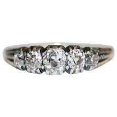 SPECIAL Antique Georgian Gold Diamond Ring signed John Linnit