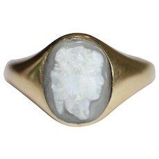 Antique Georgian 18th Century Gryllos Cameo Gold Ring