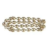 Vintage 1970's Anchor Link Chain Necklace