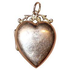 Antique Victorian 9 Carat Gold Heart Locket Pendant - Circa 1900