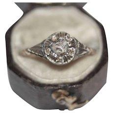 Antique Victorian Dutch 14 Carat Gold Rose Cut Diamond Cluster Ring