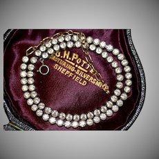 Art Deco French White Paste Silver Necklace Choker Circa 1920