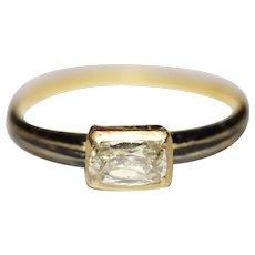 Antique Stuart Period 17th Century Diamond Black Enamel Ring