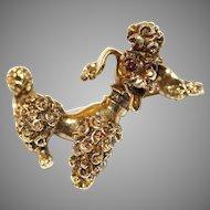 Vintage 14 Carat Gold Puddle Dog Brooch Pin Circa 1960