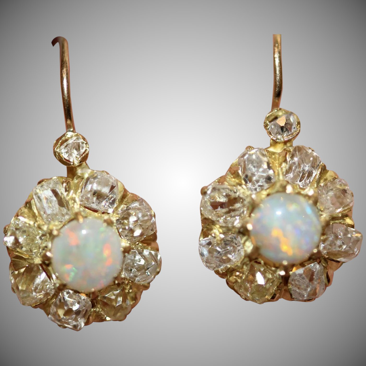 cluster august jewelry muehling moonstone insp designers ted earrings gold grey bug white shop
