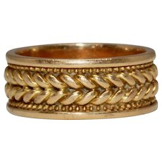 Antique Victorian 18 Carat Gold Wedding Band Ring Dated 1876