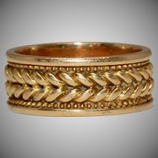 Antique Victorian 18 Carat Gold Plated Band Wedding Band Dated 1876