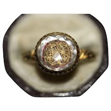 Antique Stuart Era Stuart Crystal 18-20 Carat Gold Ring Circa 1680