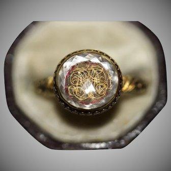 Antique Stuart Era Stuart Crystal 18-20 Carat Gold Ring Circa 1680