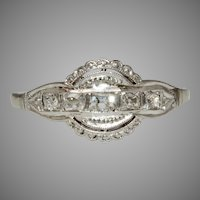 Art Deco 18 Carat Gold Diamond Engagement Ring Circa 1920
