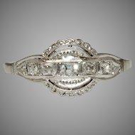 Art Deco 18 Carat Gold Diamond Engagement Ring Circa 1920
