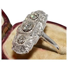 Art Deco 14 Carat Continental Diamond Ring Circa 1920""