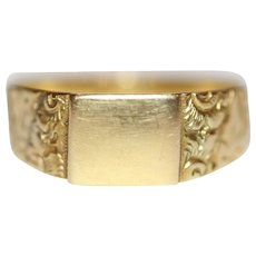 Antique Victorian Chester Band Wedding Ring Dated 1882 18 Carat Gold