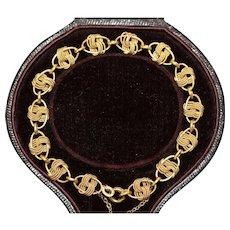 Vintage 18 Carat Gold Rope Bracelet Circa 1950's