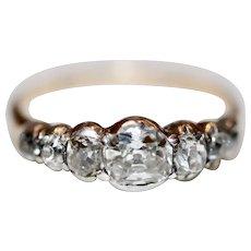 Splendid Antique Georgian Diamond Five Stone Stacking Engagement Ring Circa 1820-1830