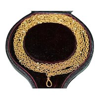 Antique Early Victorian 18 Carat Gold Longuard Chain Circa 1840