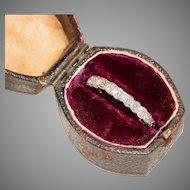 Vintage Diamond Eternity Wedding Ring 18 Carat Gold Circa 1950
