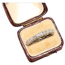 Vintage Art Deco Platinum Diamond Eternity Wedding Ring Circa 1930