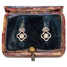Antique Vienna Diamond Earrings Circa 1910