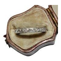 Art Deco Platinum Diamond Eternity Wedding Band Ring Circa 1920