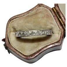 Art Deco Platinum Diamond Eternity Wedding Band Ring Circa 1920