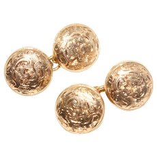 Antique Edwardian 10 Carat Gold Cufflinks Circa 1905