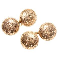 Antique Edwardian 10 Carat Gold Cufflinks Circa 1905