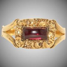 Antique Georgian Garnet Ring Circa 1830 15 Carat Gold