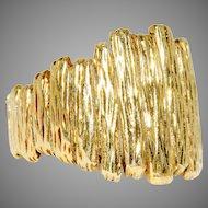 Vintage Retro 1970's Heavy 18 Carat Gold Ring