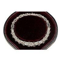 Fabulous Antique Edwardian Old Cut Diamond Platinum Bracelet Circa 1910